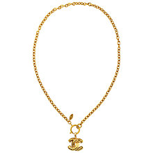 Buy Susan Caplan Vintage 1980s Chanel Gilt Plated Coin Pendant Online at johnlewis.com