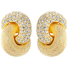 Buy Susan Caplan Vintage 1980s Christian Dior Gold Plated Swarovski Crystal Knot Stud Earrings Online at johnlewis.com