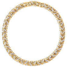 Buy Susan Caplan Vintage 1980s Nina Ricci Gold Plated Swarovski Crystal Woven Necklace Online at johnlewis.com