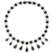 Buy Susan Caplan Vintage 1950s Kramer Silver Plated Swarovski Crystal Necklace, Blue Online at johnlewis.com