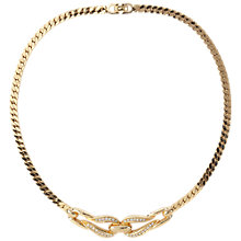 Buy Susan Caplan Vintage 1980s Christian Dior Gold Plated Swarovski Crystal Loop Necklace Online at johnlewis.com