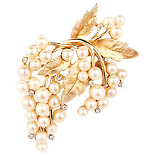 Buy Susan Caplan Vintage 1950s Trifari Gold Plated Faux Pearl Grape Brooch Online at johnlewis.com