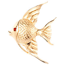 Buy Susan Caplan Vintage 1950s Trifari Gold Plated Swarovski Crystal Goldfish Brooch Online at johnlewis.com