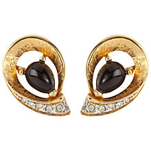 Buy Susan Caplan Vintage 1970s Nina Ricci Gold Plated Enamel Clip-On Earrings Online at johnlewis.com