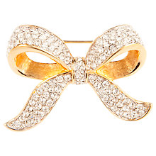 Buy Susan Caplan Vintage 1950s Swarovski Gold Plated Crystal Bow Brooch Online at johnlewis.com