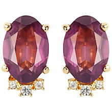 Buy Susan Caplan Vintage 1980s Gold Plated Swarovski Crystal Clip-On Earrings Online at johnlewis.com