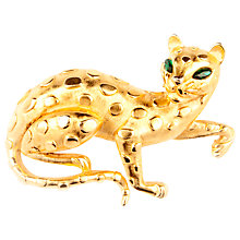 Buy Susan Caplan Vintage 1950s Trifari Gold Plated Swarovski Crystal Leopard Brooch Online at johnlewis.com