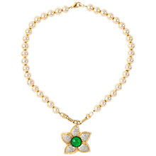 Buy Susan Caplan Vintage 1980s Vogue Bijoux Gold Plated Faux Pearl Pendant Necklace Online at johnlewis.com