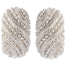 Buy Susan Caplan Vintage 1980s Christian Dior Silver Plated Hoop Earrings Online at johnlewis.com