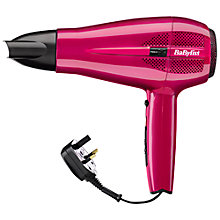 Buy BaByliss 5224U Cordkeeper 2000 Hair Dryer, Pink Online at johnlewis.com