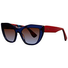 Buy Miu Miu MU 02PS  Retro Style Sunglasses Online at johnlewis.com