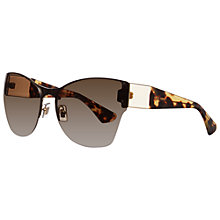 Buy Miu Miu MU52PS ZVN1x1 Frameless Oversized Shaped Sunglasses, Pale Gold Online at johnlewis.com