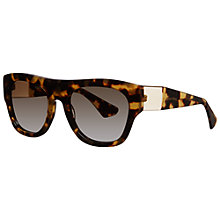 Buy Miu Miu MU05PS 7S01X1 Square Sunglasses, Havana Online at johnlewis.com