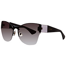 Buy Miu Miu MU 52PS 7AX0A7 Rectangular Sunglasses, Black Online at johnlewis.com