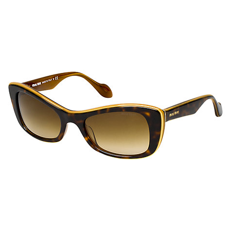 Buy Miu Miu 0MU 01OS Retro Rectangular Sunglasses Online at johnlewis.com