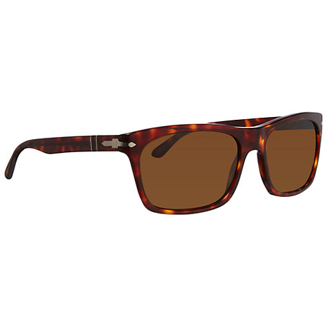 Buy Persol PO3062S 24/57 Rectangular Frame Polarised Sunglasses, Havana Online at johnlewis.com