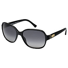 Buy Giorgio Armani AR8020 5017T3 Rectangular Polarised Sunglasses, Black Online at johnlewis.com