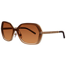 Buy Burberry BE4153Q 34266H Square Framed Sunglasses, Brown Online at johnlewis.com