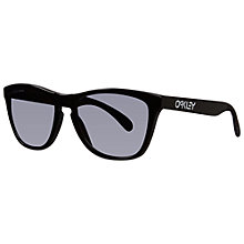 Buy Oakley OO9013 03-223 Frogskins® LX Polarised Sunglasses, Polished Black Online at johnlewis.com