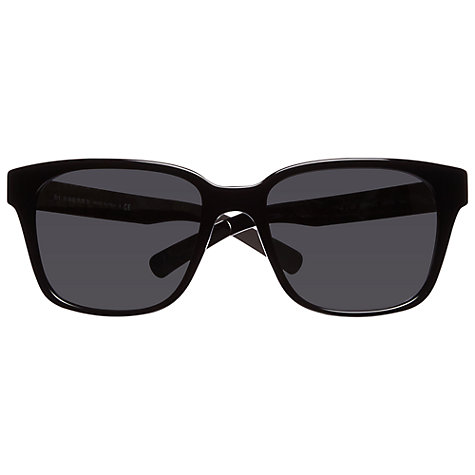 Buy Burberry BE4148 30016G Rectangular Sunglasses, Black Online at johnlewis.com
