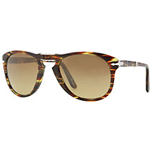 Buy Persol Po0714 Cut Out Foldable Sunglasses,Tortoise Online at johnlewis.com