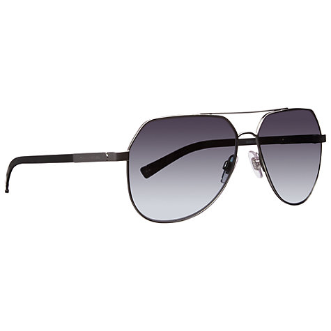 Buy Dolce & Gabanna DG2133 1108T3  Aviator Polarised Sunglasses, Sand Gunmetal Online at johnlewis.com