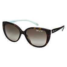 Buy Tiffany & Co TF4082 80153M Cat's Eye Sunglasses, Havana Online at johnlewis.com