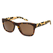 Buy Burberry BE4161Q 341773 Animal Print D-Framed Sunglasses, Havana Online at johnlewis.com