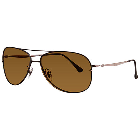 Buy Ray-Ban RB8052 Titanium Polarised Aviator Sunglasses Online at johnlewis.com