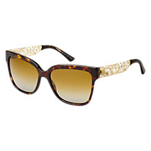 Buy Dolce & Gabbana DG4212  502/T5 Square Framed Acetate Polarised Sunglasses, Tortoiseshell Online at johnlewis.com