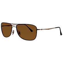 Buy Ray-Ban RB8054 158/83 Polarised Square Aviator Sunglasses, Brown Online at johnlewis.com