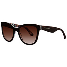 Buy Dolce & Gabbana DG4190  278113 Cat's Eye Acetate Frame Floral Sunglasses, Havana Online at johnlewis.com