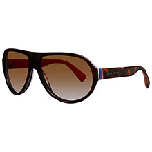 Buy Dolce & Gabbana DG4204 2765T5 Rectangular Polarised Sunglasses, Orange Online at johnlewis.com