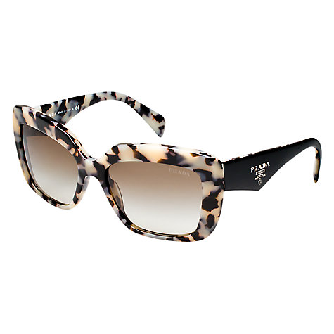 Buy Prada PR03QS Square Sunglasses, Havana Online at johnlewis.com