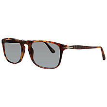 Buy Persol PO3059S 108/58 Rectangular Polarised Sunglasses, Caffe Online at johnlewis.com