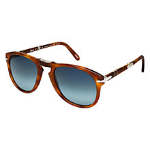 Buy Persol PO0714SM 96/S3 Suprema Polarised Folding Sunglasses, Light Havana Online at johnlewis.com