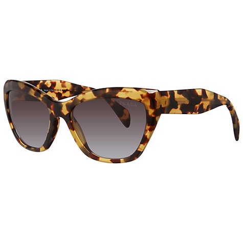 Buy Prada PR02QS Cat's Eye Acetate Framed Sunglasses, Havana Online at johnlewis.com