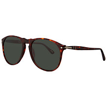 Buy Persol PO9649S 24/31 Suprema Rounded Shaped Acetate Sunglasses, Dark Havana Online at johnlewis.com