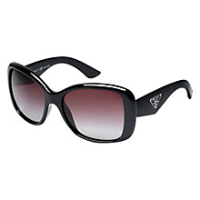 Buy Prada 0PR 32PS 1AB2A0 Classic Rectangular Polarised Sunglasses, Black Online at johnlewis.com