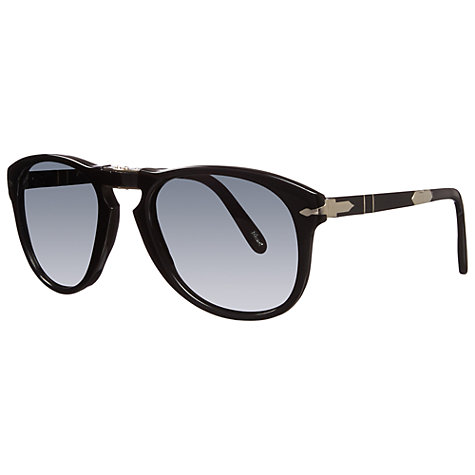 Buy Persol PO0714SM 95/71 Steve McQueen™ Special Edition Folding Sunglasses, Black Online at johnlewis.com