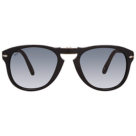 Buy Persol PO0714SM Steve McQueen™ Special Edition Folding Sunglasses, Black Online at johnlewis.com
