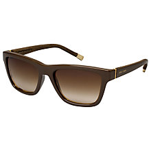 Buy Giorgio Armani AR8026K 514613 Square Acetate Sunglasses, Brown Online at johnlewis.com
