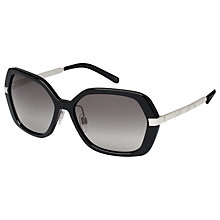 Buy Burberry BE4153Q Square Sunglasses, Black Online at johnlewis.com