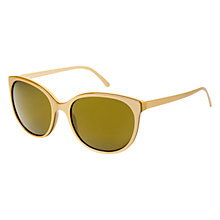 Buy Burberry BE4146 34325A D-Framed Sunglasses, Gold Online at johnlewis.com