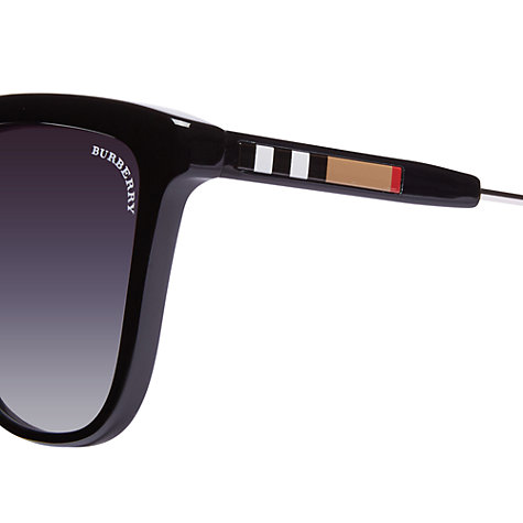 Buy Burberry BE4152 Rectangular Sunglasses with Burberry Check Detail Online at johnlewis.com