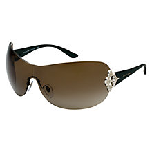 Buy Bvlgari BV6069B 387/13 Diamante Sunglasses, Silver Online at johnlewis.com