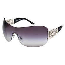 Buy Bvlgari BV6071B 102/8G Diamante Sunglasses, Silver Online at johnlewis.com