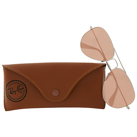 Buy Ray-Ban RB3025 Aviator Flash Lenses Sunglasses Online at johnlewis.com
