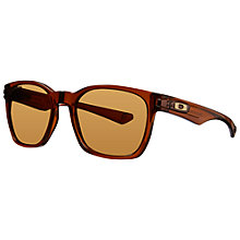 Buy Oakley OO9175 917506 Garage Rock™ Square Frame Polarised Sunglasses, Dark Amber Online at johnlewis.com