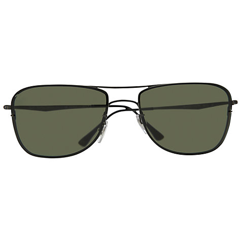 Buy Ray-Ban RB8054 154/9A Square Aviator Polarised Sunglasses, Sand Gunmetal Online at johnlewis.com